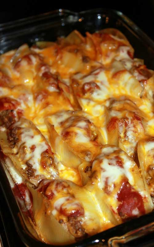 Pasta shells get a south of the border makeover when filled with taco ingredients and your favorite salsa to make these Taco Stuffed Shells. It is so good you may want to double the recipe, so you can freeze some to enjoy later!