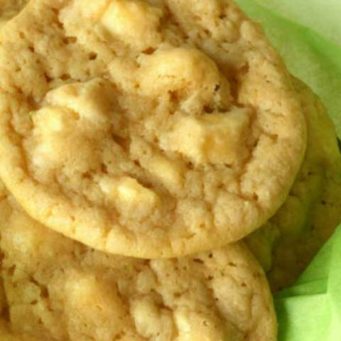 Recipe for White Chocolate Key Lime Cookies - These cookies are really good. They are basically just white chocolate macadamia nut cookies kicked up a little bit with the addition of lime juice and lime zest.
