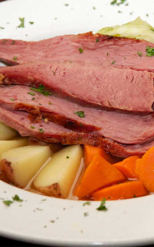 Recipe for Corned Beef and Cabbage - If you want an easy recipe for corned beef and cabbage to serve up this St. Patrick's Day, we have you covered. This dish has it all, and is prepared all in one pot. Any leftovers make for a great hash or sandwiches.