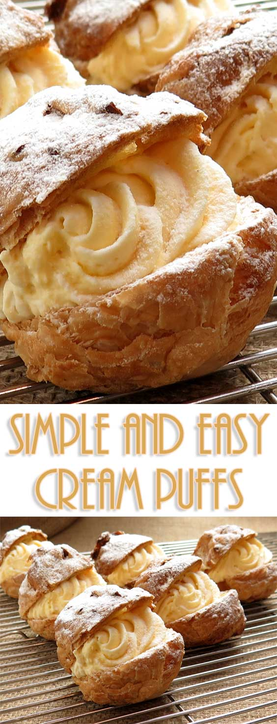 These cream puffs are the dessert people BEG me to bring to parties. What they don't know is how truly easy they are to make! #dessertrecipe #easydessert #easyrecipe