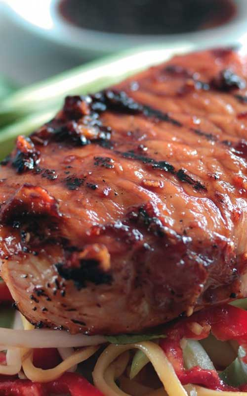 Recipe for Teriyaki Pork Steaks with an Asian Noodle Salad - This is a fast, simple, and easy recipe for mouth watering teriyaki pork steaks with an Asian noodle salad. Perfect for when you need to throw something together on a weeknight.