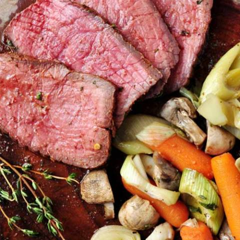 A fork-tender beef roast that cooks right alongside it's own sidedish, all in one pan! This One-Pan Oven Roast with Vegetables is comfort food at its very best. It takes just a few minutes to pull this meal together. The perfect meal for any busy week night.