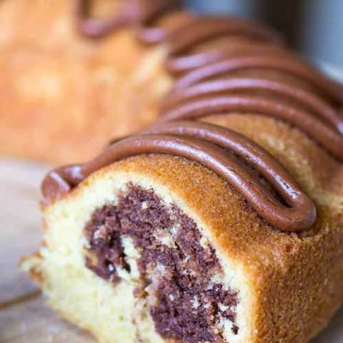 This homemade marble pound cake is a great, dense, made-from-scratch cake that will take care of both your, and your guests', chocolate and vanilla cravings all at once.