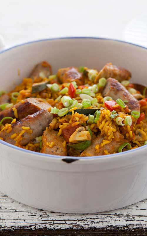 This simple version of the classic Creole Sausage Jambalaya brings all of the traditional flavors you have come to love, in a fraction of the time!