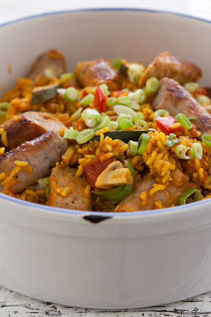 This simple version of the classic Creole Sausage Jambalaya brings all of the traditional flavors you have come to love, in a fraction of the time! #cajun #creole #sausage #rice #dinnerideas #easyrecipe