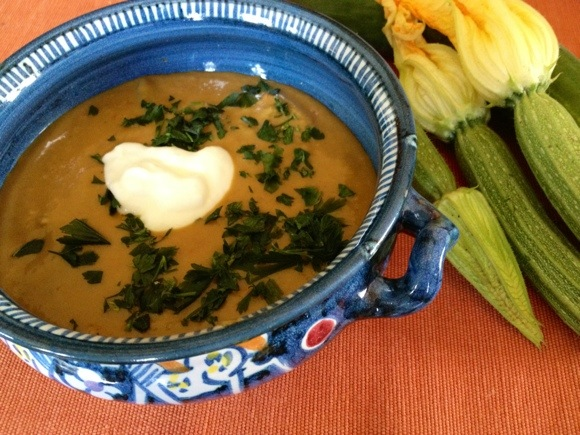 Curried Eggplant Soup