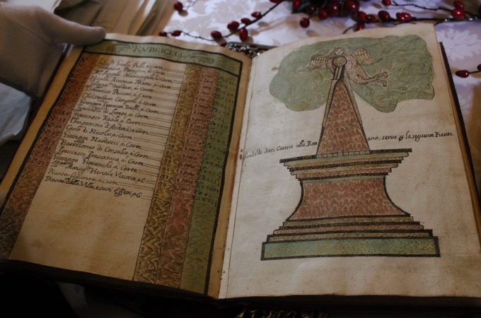 Casino Ludovisi hand-drawn historic book