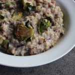Brussels Sprouts Risotto with Gorgonzola