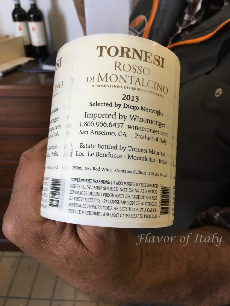 Tornesi Rosso, a Tuscan red from Montalcino