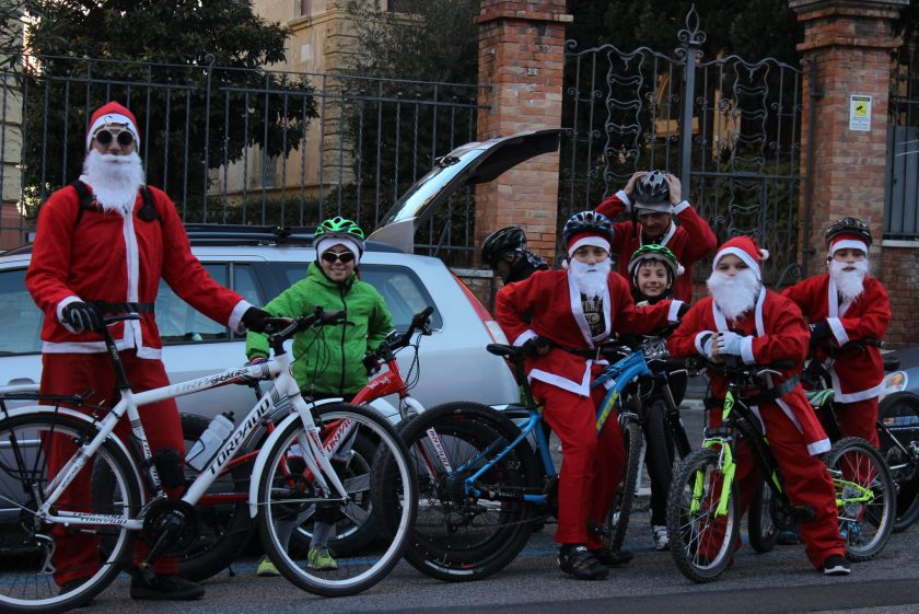 Christmas bike ride around the Colosseum