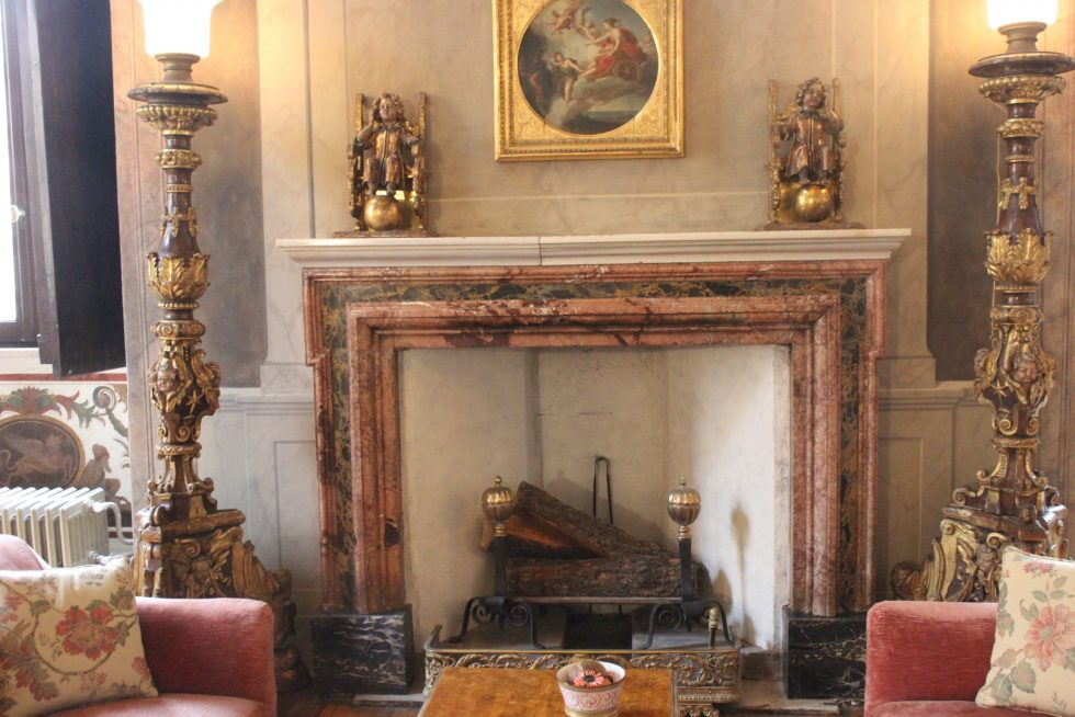 Grand Salotto Palazzo Caetani fireplace