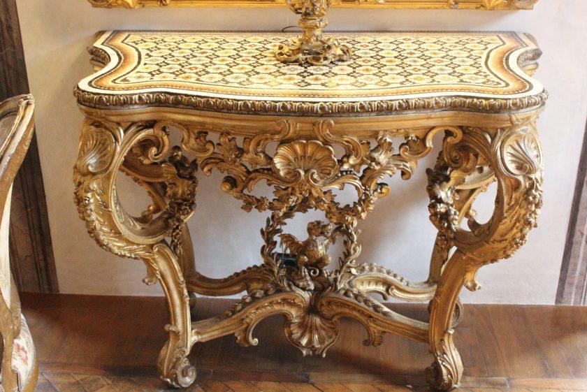 Palazzo Caetani Grand Salon console table