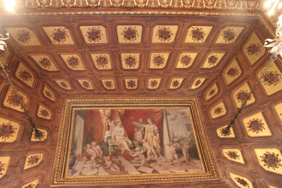 Palazzo Caetani Tapestry Room ceiling