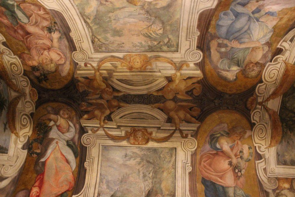 Paul Brill frescoes in the Basilica Santa Cecilia Trastevere