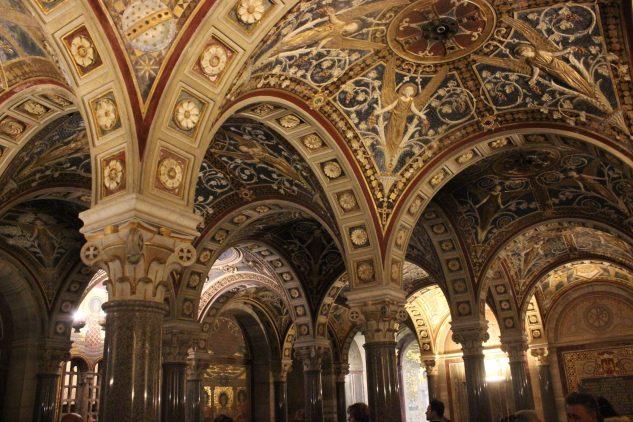 Exquisite crypt area within the Basilica Santa Cecilia Trastevere