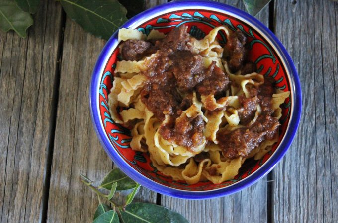 Pappardelle with Wild Boar Sauce is a hearty and satisfying winter dish