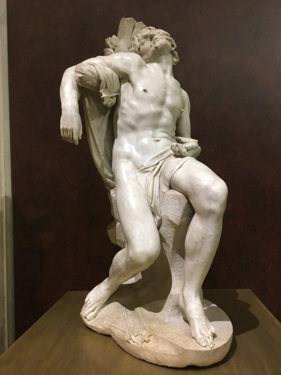 Saint Sebastian, Bernini exhibit at the Galleria Borghese in Rome, January 2018