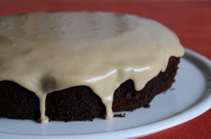 ginger cake with maple glaze