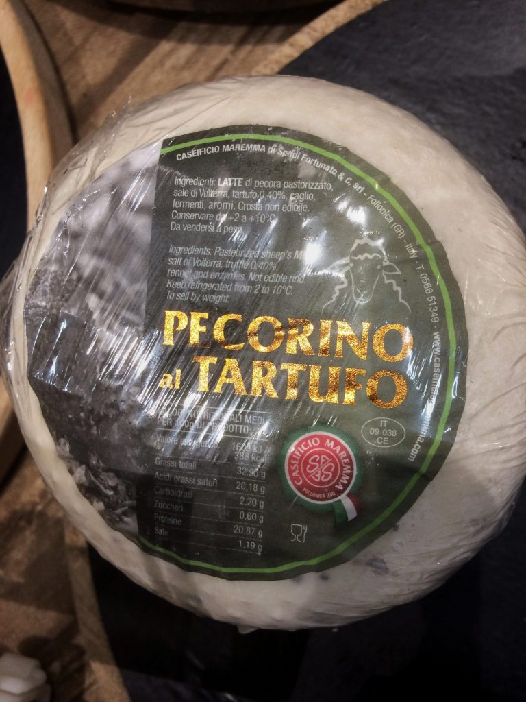 pecorino cheese with truffles