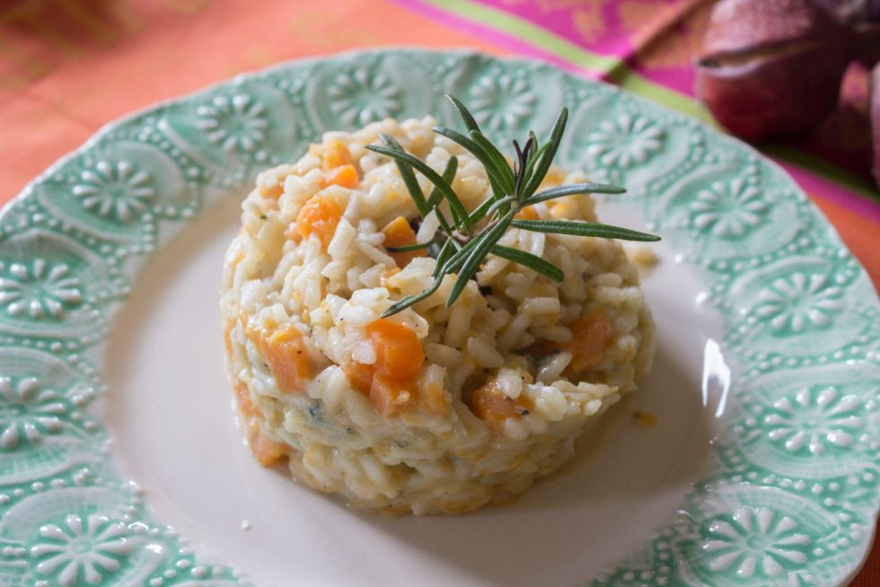 Pumpkin Gorgonzola Risotto is the perfect blend of flavors for a creamy and delicious risotto