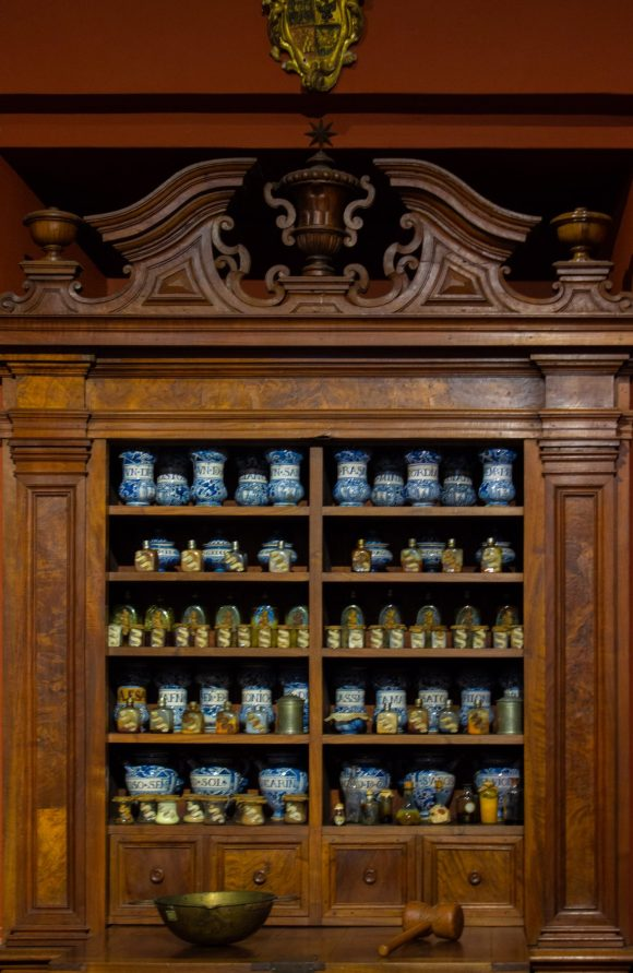 Centuries old pharmacy within the Palazzo Chigi in Ariccia