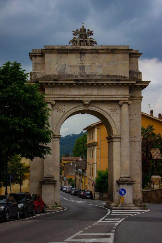 Subiaco-Lazio town entrance
