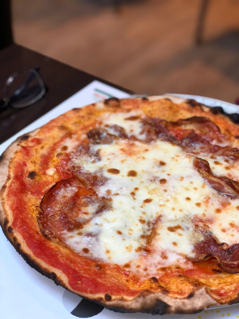 Pizza with Salame Cinta Senese at Pizzeria Emma