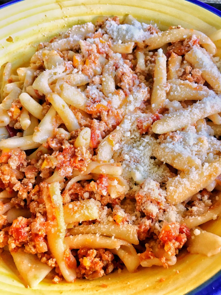 A typical spicy ragù sauce from the Basilicata region of Italy: 'Ndruppeche.
