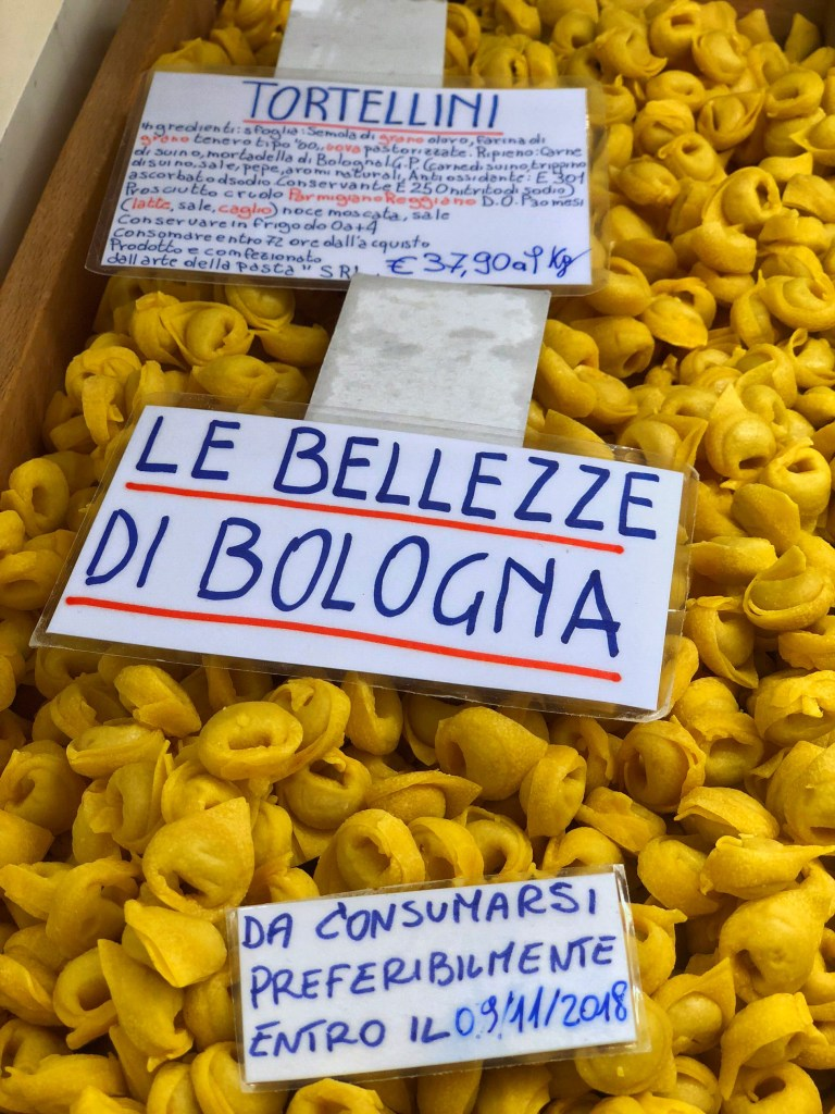 Tortellini in Bologna are delicious!