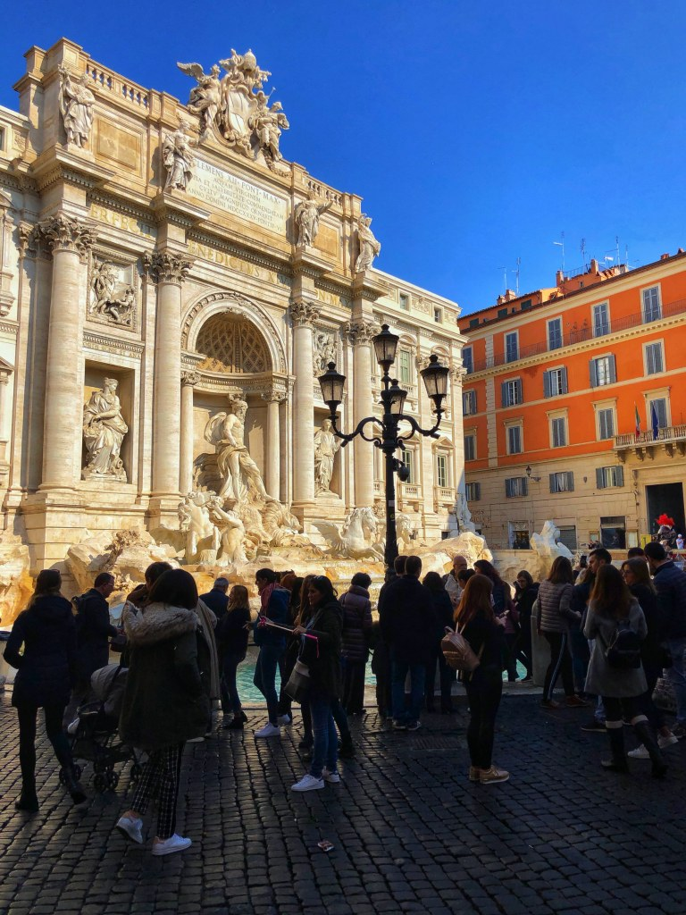 The Trevi Fountain is dazzling! It's been recently restored and revamped and is a must-see in Rome!