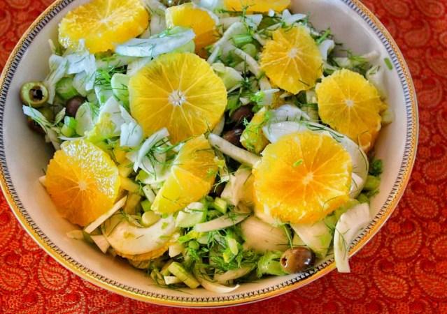 Fennel orange and olive salad