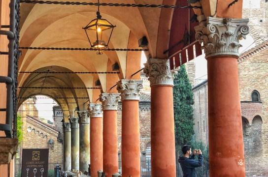 Portico Casa Berti, Piazza Santo Stefano, Bologna