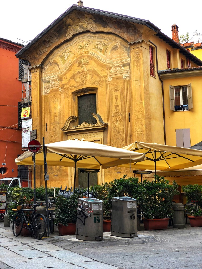 Via Valdonica at beginning of Ghetto neighborhood near the Jewish Museum, Bologna