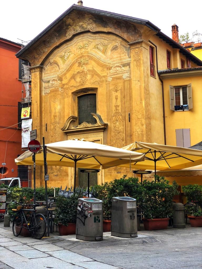 Via Valdonica at beginning of Ghetto neighborhood near the Jewish Museum, Bologna