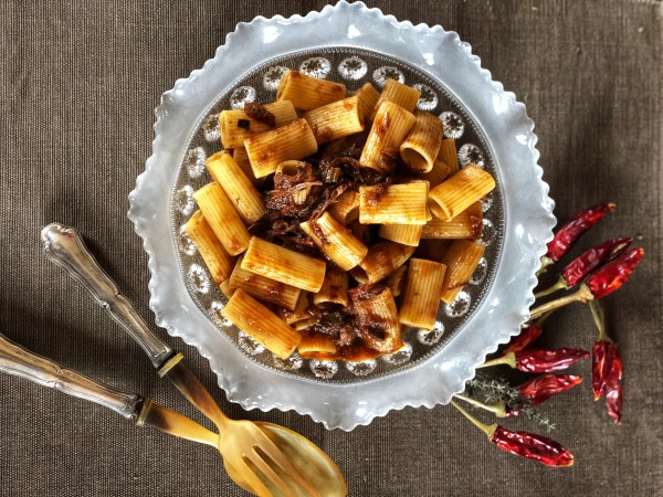 Pasta with wild boar sauce