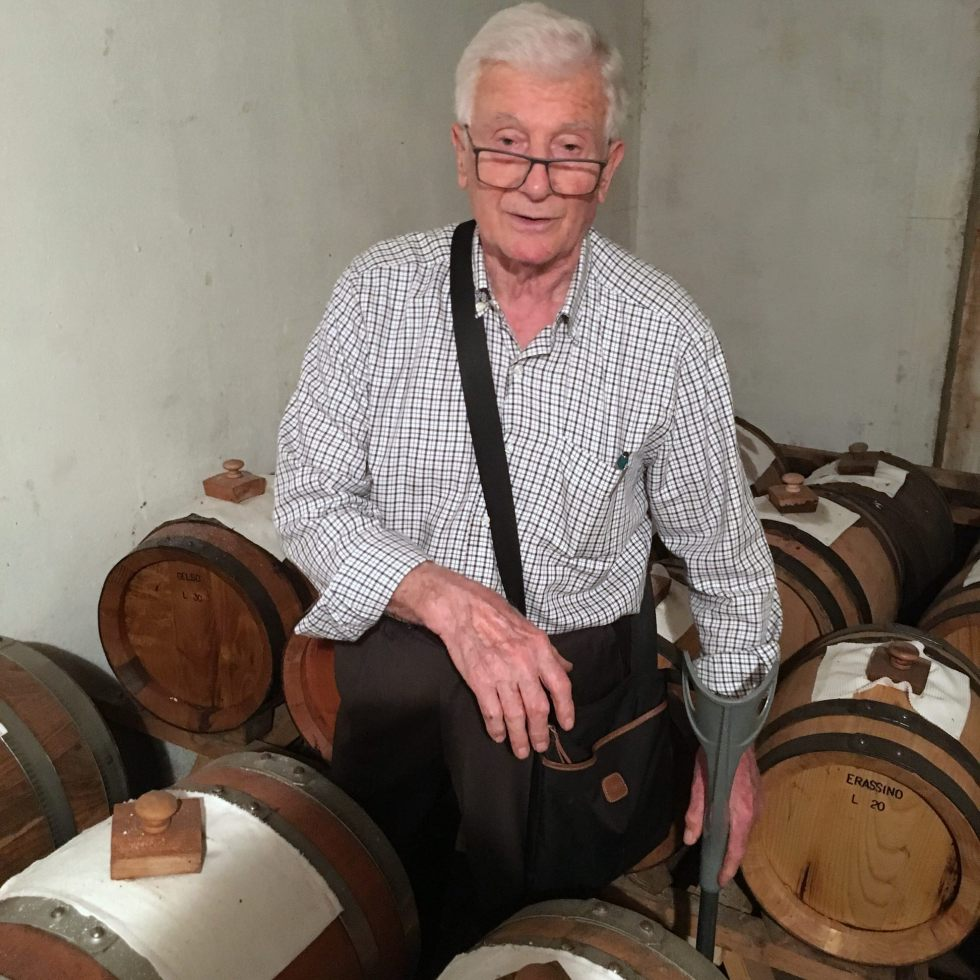 Octogenarian gentleman from Carpi; an official DOP balsamic vinegar taster for decades