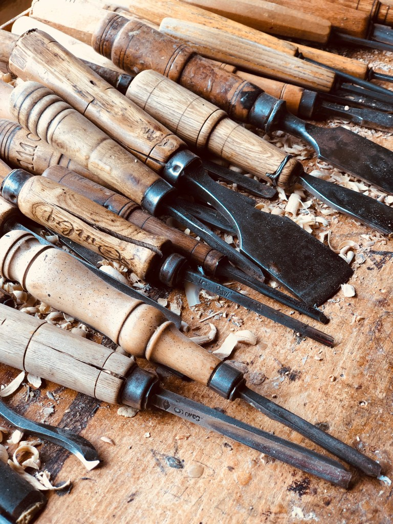 Carving tools used to carve corzetti