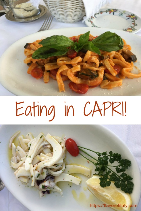 Eating on the Island of Capri is a magical experience