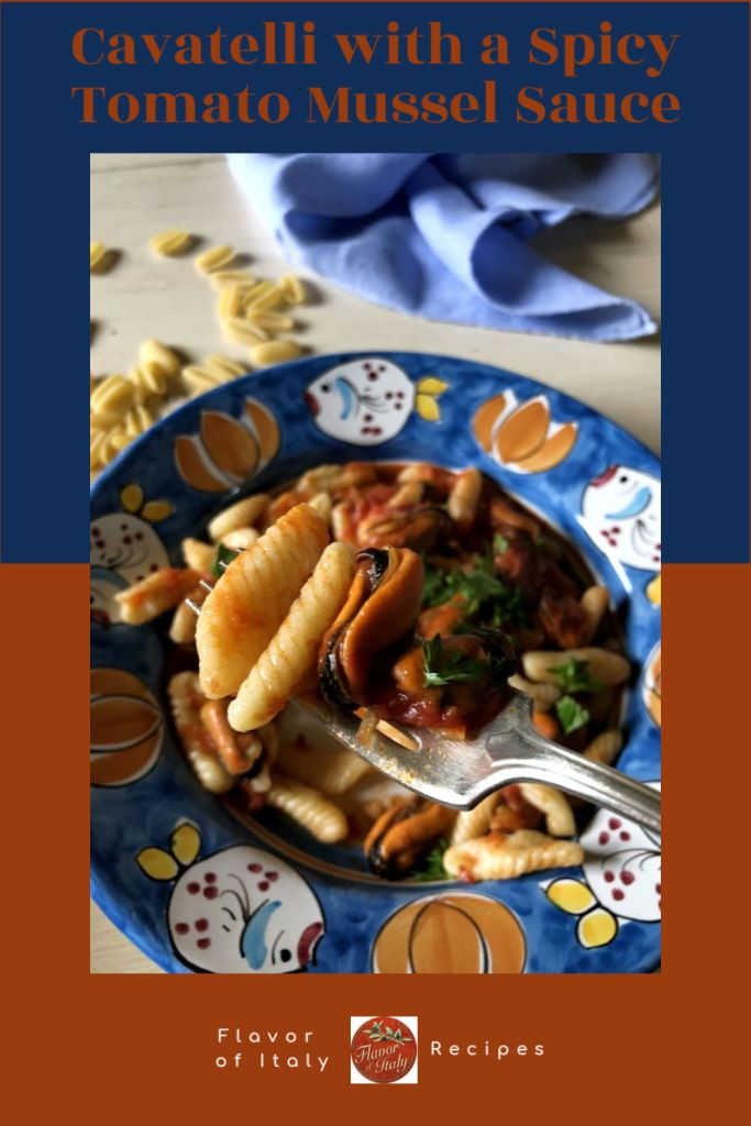 Cavatelli with a Spicy Tomato Mussel Sauce