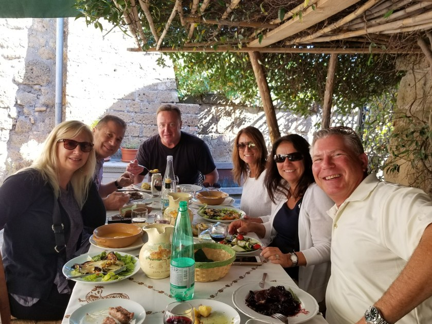 Great meals with Irene on her Bella Giornata Tours