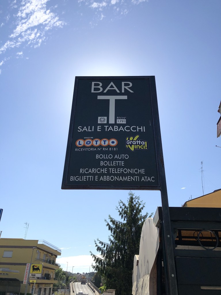 Tobacconist shop signs throughout Italy still display the wording sali e tabacchi - salt and tobacco