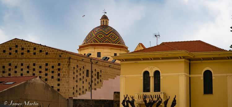 City skyline of Alghero