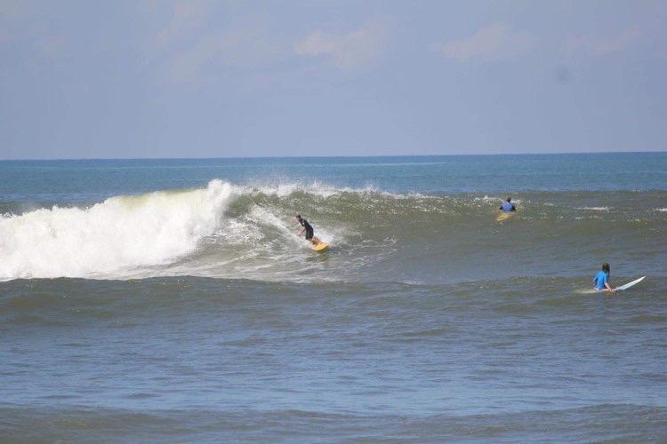 Steve Brenner surfing