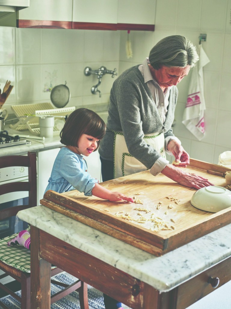 Pasta grandmas love to share their pasta-making knowledge with their grandchildren and great grandchildren