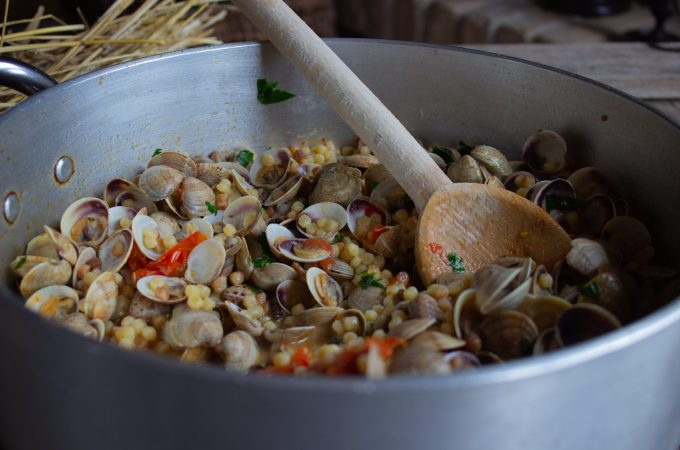 Fregule with Clams