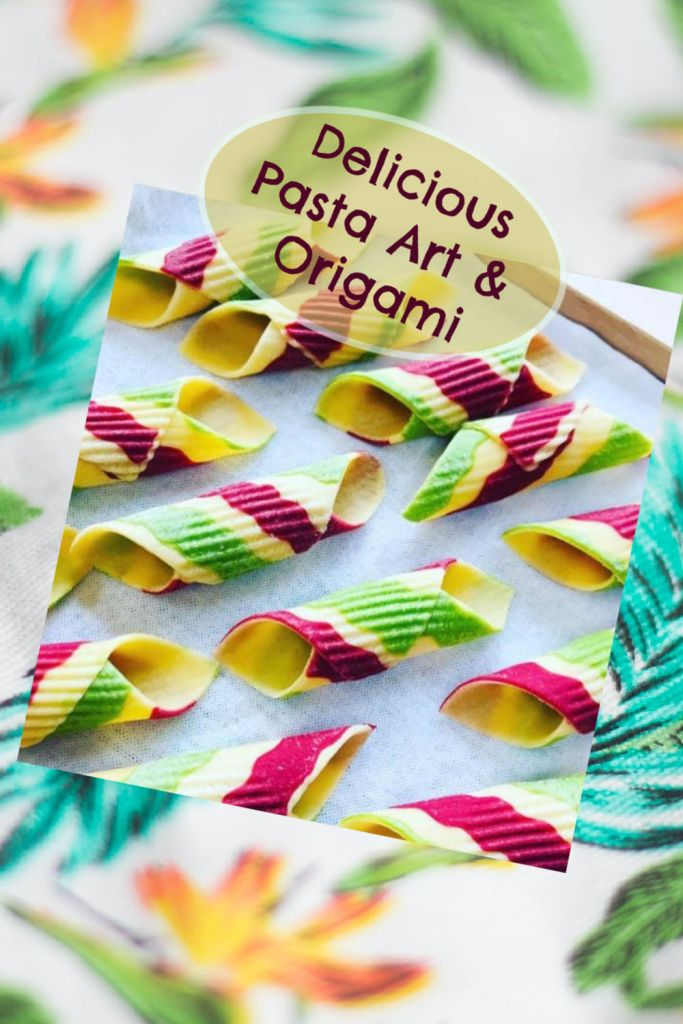 Pasta art and origami are gorgeous, delicious and fun to make!