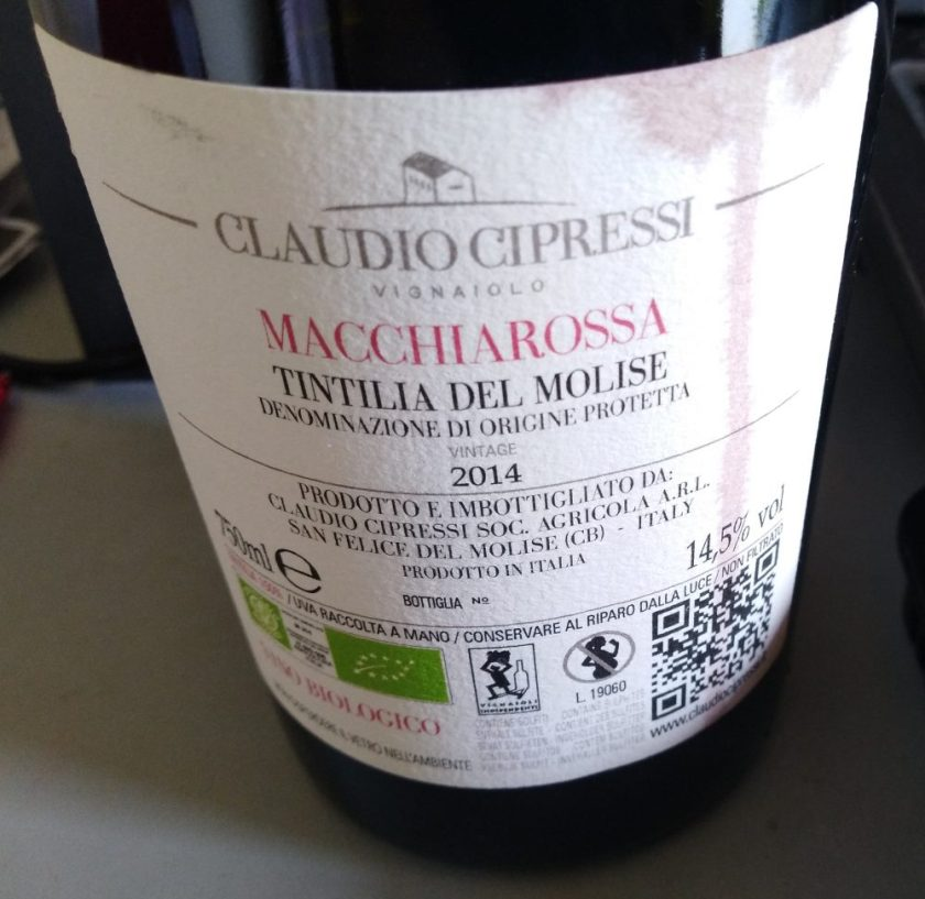 Delicious wine from the Molise region