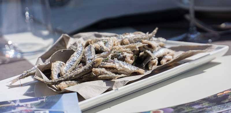 Deep-fried Ligurian anchovies