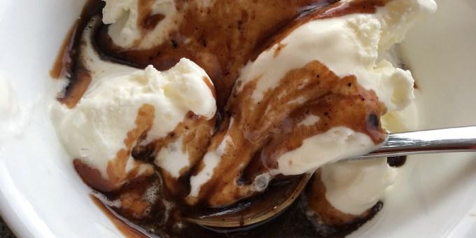Miso Caramel Sauce on Gelato