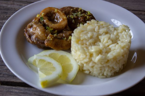 Ossobuco all milanese is a luscious dish from the Lombardy region that dates back to the middle ages
